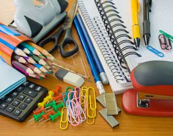 Desk Of Office Supplies